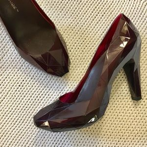 United Nude Garnet Red Jelly Pumps